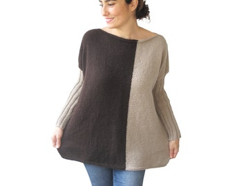 NEW - Brown - Light Brown Sweater Plus Size Over Size