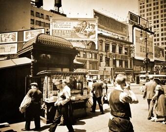 "1936 Union Square, Manhattan, New York City Vintage Photograph 13"" x 19"" Reprint"