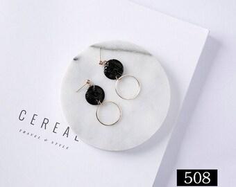 Handmade CCCJewlery| Vintage  Circle Earrings | Geometric | Minimalist|