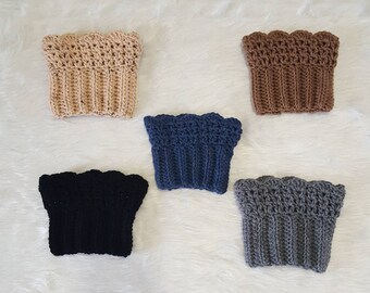 Boot Cuffs // Multiple Colors // Crochet // Ready To Ship