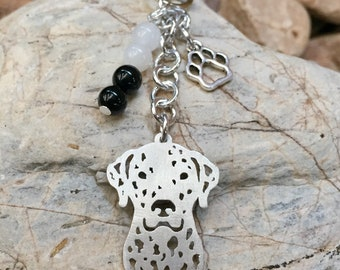 Dalmatian key chain/ bag charm