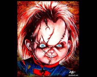Print 11x14 - Chucky - Childsplay Horror Dark Art Halloween Doll Serial Killer Gothic Vintage Frankenstein