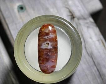 25% off Sale Linda Marie Plume Agate Cabochon,  Agate Pendant Cab, Agate Ring Stone, Jasper Palm Stone, Designer Cabochon, Wire Wrap, Focal
