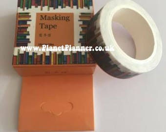 Book Washi Tape, Study Washi Tape, Library Washi Tape, Shelf Washi Tape, Washi Tape For Studying, Stationery for Studying, Revision Aid.