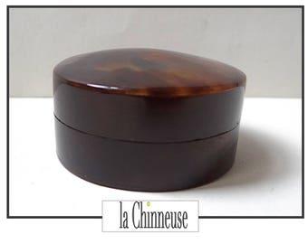 VINTAGE TORTOISESHELL box or box made of Bakelite / Little vintage Box / Collectible / box 19th century / Antique Box.