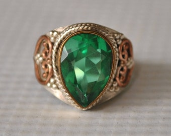 Sterling Silver Apatite Ring Sz 7  #9758