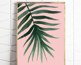 fern printable, tropical leaf art, tropical decor, fern wall art, fern home wares, fern download