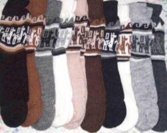 lot of 3 pairs of Peruvian alpaca socks natural colors