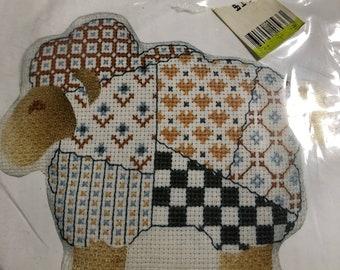Sheep - counted cross stitch kit - needle art - fiber art