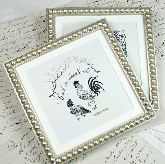 7x7 inch Silver Boule Frame for Photos/Wedding/25th Anniversary ...