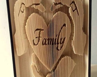 Family Hands cut and fold book folding pattern