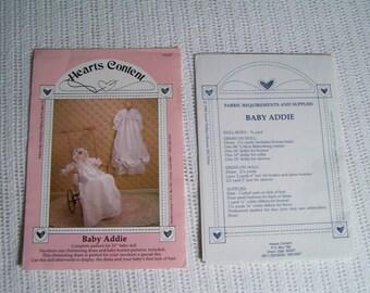 Pattern. BABY ADDIE #HC007. 1988. Doll and Christening Dress