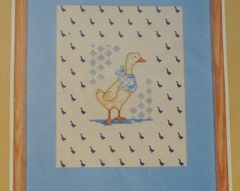 Prints Charming Needles n Hoops Duck with Kerchief StampedCross Stitch Kit FREE Shipping USA