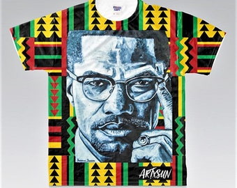 Malcolm X All Over Pattern