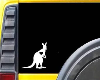 Kangaroo Window Decal Sticker *J495*