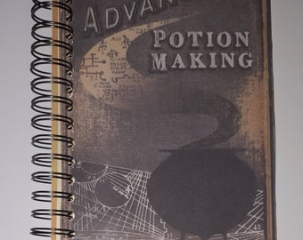 Advanced Potion Making | Harry Potter| Halfblood Prince | Notebook | Smashbook | Journal | album | A5 | wire bound | Handmade