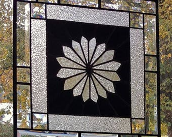 SIMPLY RADIANT Stained Glass Window Panel (Signed and Dated)