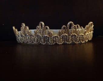 Goddess Crown, Boho Headband, Boho Crown, Egyptian Crown, Baby Crown, Gold Crown