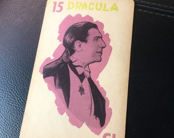 Dracula The First Vampire 1960s Large Playing Card