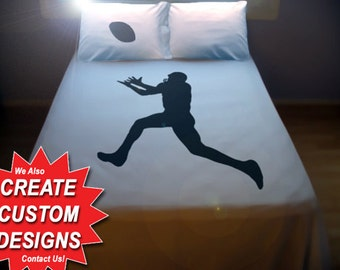 Football Duvet Cover Sheet Set Bedding Queen King Twin Size field goal kicker player rugby superbowl ball game sport cotton duvet covers