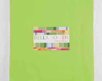 Moda Bella Solids Lime Green 10 x 10 Inch Squares - Junior Layer Cake