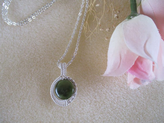 Jade Woven Wire Pendant N217181