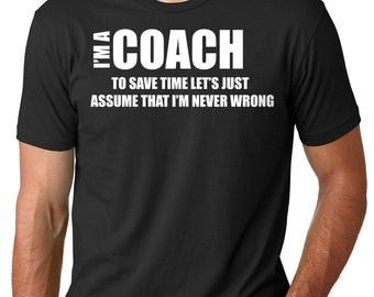 Funny T-shirt For Coach Gift For Coach Instructor Tee Shirt Trainer Hand Made Gift Birthday Gift