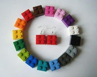 Lego - choice of color earrings