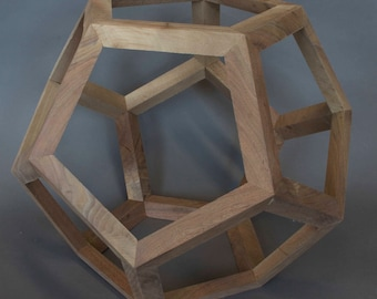 Walnut dodecahedron