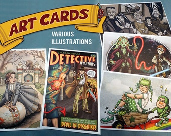Art Cards : Various Illustrations