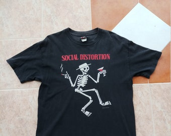 SOCIAL DISTORTION Original 1996 Vintage Merchandise Giant Label Rock n Roll Mike Ness