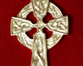 Celtic cross 35 mm sterling silver 925