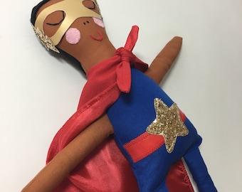 Super Hero Doll, Custom made doll, captain America, black panther, marvel, dc comics, hero, superhero, batman