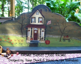 Home Sweet Fall Home - Painted by Lynn Barbadora,  Painting With Friends E Pattern