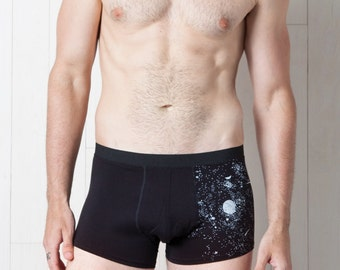 Glow-in-the-Dark Solar System Men's Trunks Underwear