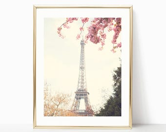Paris wall art, mothers day gift, extra large wall art, Paris print, Paris photography, framed wall art, wall art canvas, Eiffel tower blush
