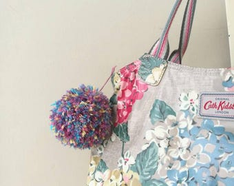 Large Pompom Mulitcolour Key Ring / Key Chain / Bag Charm