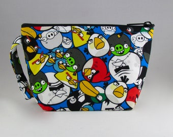 Angry Birds Makeup Bag - Accessory - Cosmetic Bag - Pouch - Toiletry Bag - Gift