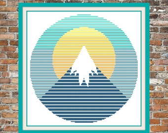 Abstract Mountain - a Counted Cross Stitch Pattern