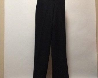 Vintage Black Poly Bell-Bottom Sailor Pants