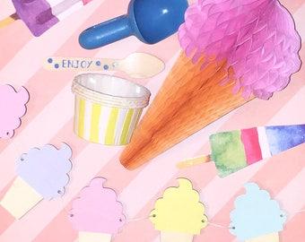 Ice Cream Party kit
