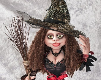 Art Doll Fabric Doll Handmade Fantasy Doll, Cloth Rag Doll Fantasy Whimsical Doll, Art Doll Witch Doll Woodland Doll Fairy Tale Doll Magical