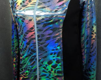 GIRLS 12 Rainbow Hologram Railshirt