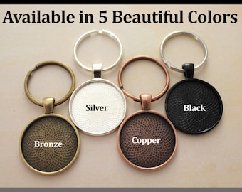 10 Key chain, Keychain Sets, Available in 5 Colors with optional glass