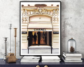 Chanel Rue Cambon, Watercolor art print, Chanel Painting,Chanel Illustration,  Chanel drawing,Watercolor Painting, Coco Chanel print, Chanel