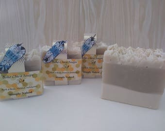 Handmade Natural Soap/Unscented/Cold Process Soap/Moisturizing/Bath and Body Treats/Sensitive Skin by Boho Chica Soaps.