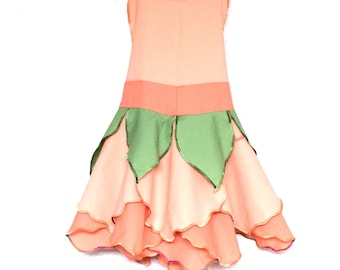Peach Fairy Dress, Party Dress, Girls Clothing, Fairy Costume, Toddler Dress, Baby Girl Dress, Kids Dress Up, Birthday Outfit, Tinkerbell