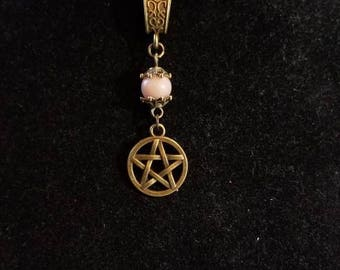 """18"""" Pentagram pendant necklace with a Moonstone Bead"""