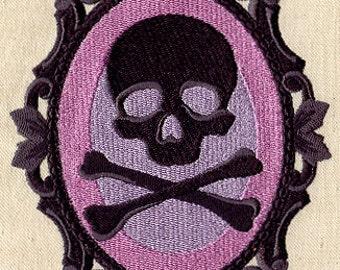 Skull Cameo Mori Embroidered Flour Sack Hand/Dish Towel