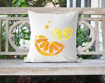 Watercolor Lemon 18x18 Pillow//Custom Pillows//Housewarming Gifts//Pillow Cover//Throw Pillow//Lemon Pillow Cover